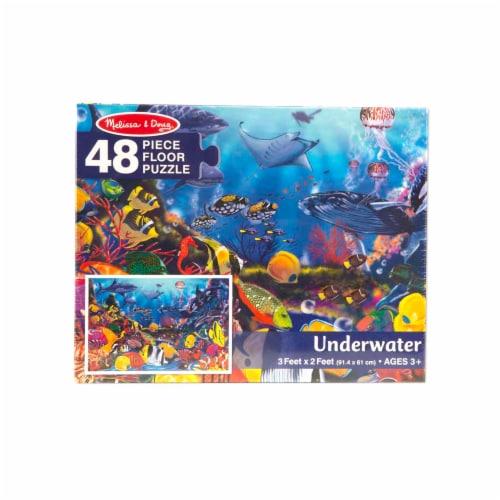 Melissa & Doug® Solar System & Underwater Puzzle Bundle Perspective: back