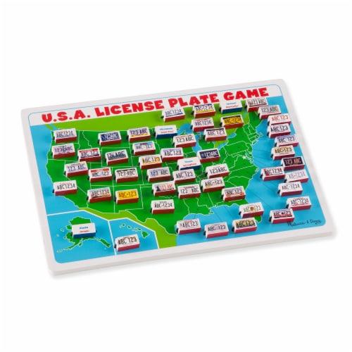 Melissa & Doug® USA License Plate Game Perspective: back