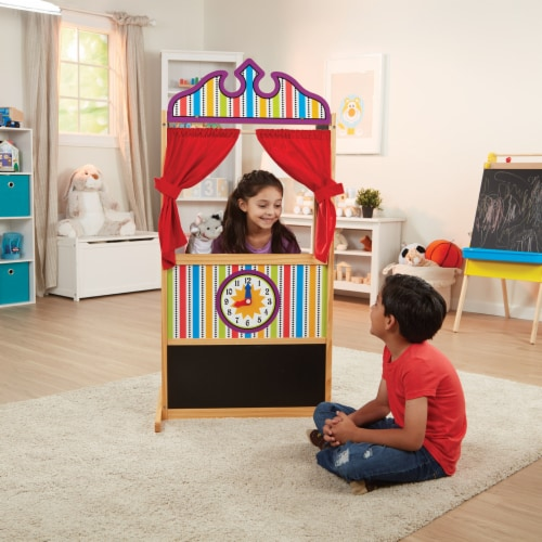 Melissa and Doug® Deluxe Puppet Theater Perspective: back