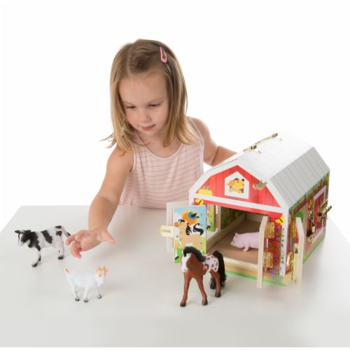 Melissa and Doug® Latches Barn Playset Perspective: back