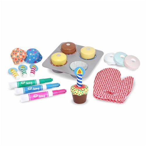 Melissa & Doug® Bake & Decorate Cupcake Set Perspective: back