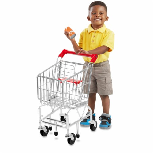 Melissa and Doug® Metal Shopping Cart Toy Perspective: back