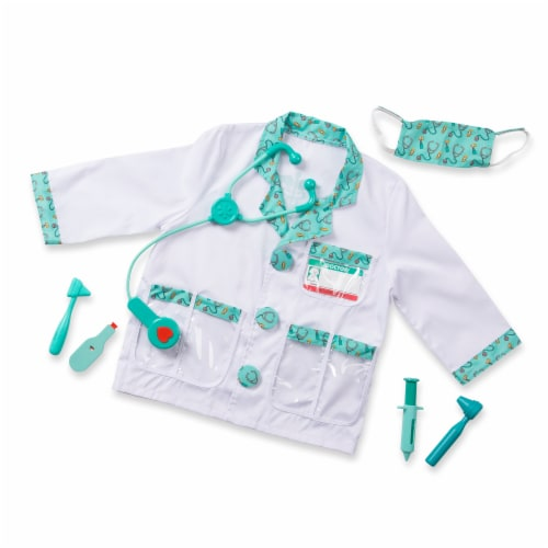 Melissa and Doug® Doctor Role Play Costume Set Perspective: back