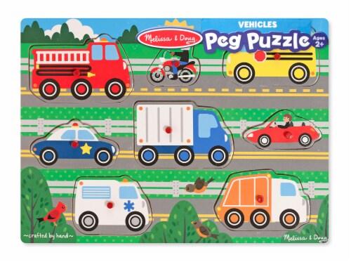Melissa & Doug® Transportation Puzzle Bundle Perspective: back