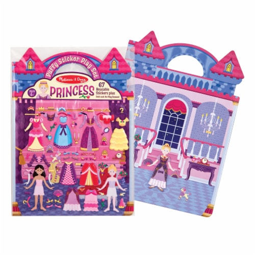 Melissa & Doug® Princess Puffy Sticket Play Set Perspective: back