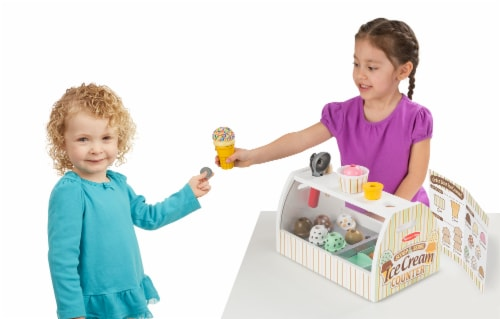 Melissa and Doug® Scoop and Serve Ice Cream Counter Perspective: back