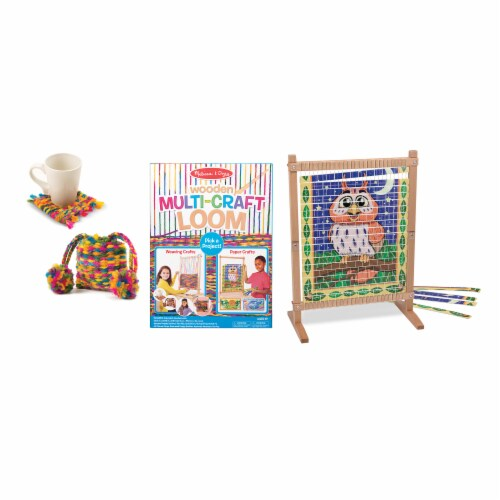 Melissa & Doug® Wooden Multi-Craft Loom Perspective: back