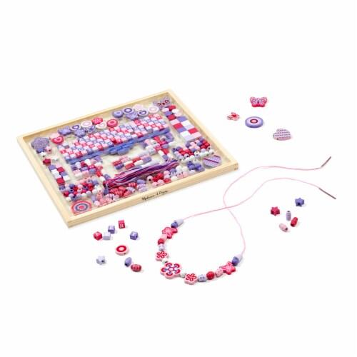 Melissa & Doug® Deluxe Sparkle & Shimmer Wooden Bead Kit Perspective: back