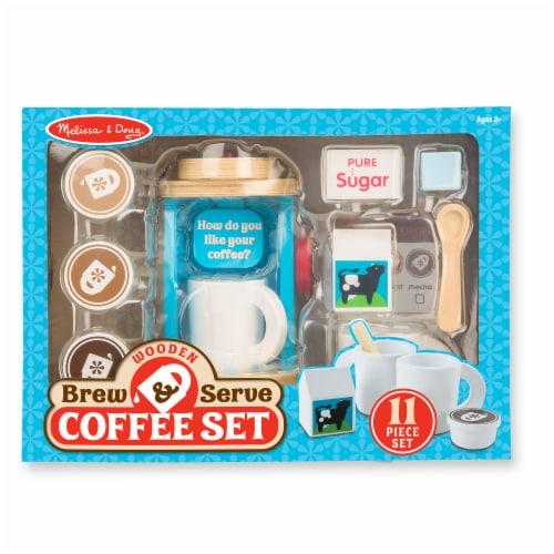 Melissa & Doug® Wooden Brew & Serve Coffee Set Perspective: back