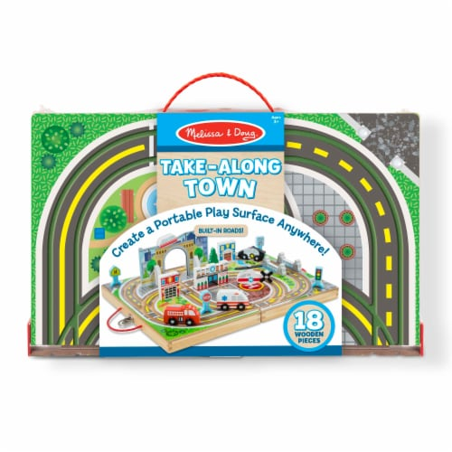 Melissa & Doug® Take-Along Town Wooden Playset Perspective: back