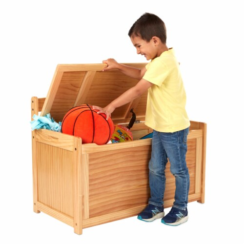 Melissa & Doug® Wooden Toy Chest - Honey Perspective: back