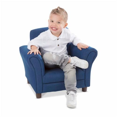 Melissa & Doug® Child's Armchair - Denim Perspective: back