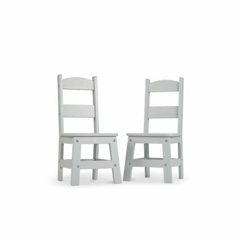 Melissa & Doug® Wooden Chair Pair - Gray Perspective: back