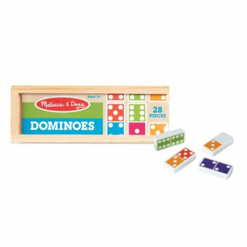 Melissa & Doug® Dominoes & Wooden Box Perspective: back