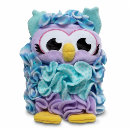 Melissa & Doug® Created by Me! Owl Accent Pillow - Purple/Blue Perspective: back