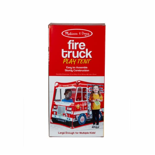 Melissa & Doug® Fire Truck Play Tent Perspective: back