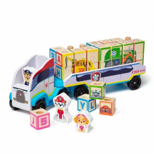 Melissa & Doug Paw Patrol ABC Block Truck Perspective: back