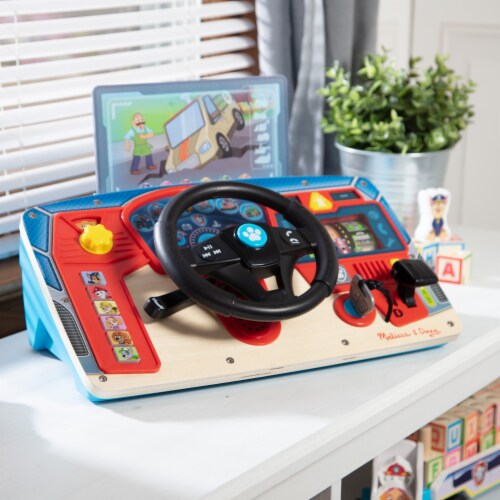 Melissa & Doug Paw Patrol Wooden Dashboard Perspective: back