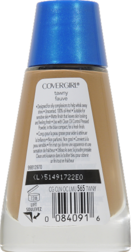 CoverGirl Clean Oil Control Tawny Foundation Perspective: back