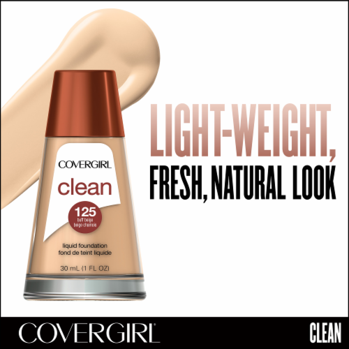 CoverGirl Clean Normal Skin 125 Buff Beige Foundation Perspective: back