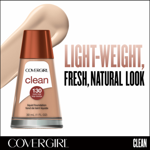 CoverGirl Clean Liquid Foundation - 130 Classic Beige Perspective: back
