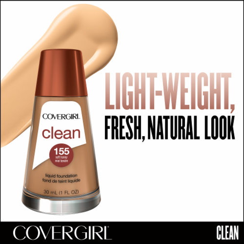 CoverGirl Clean Normal Skin 155 Soft Honey Foundation Perspective: back