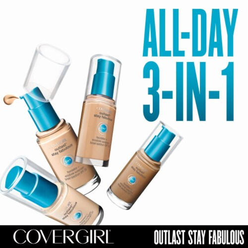 CoverGirl Outlast Stay Fabulous 3-in-1 Golden Tan Liquid Foundation Perspective: back
