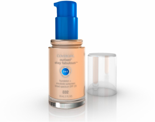 CoverGirl Outlast All Day Stay Fabulous 3-in-1 832 Nude Beige Foundation SPF20 Perspective: back