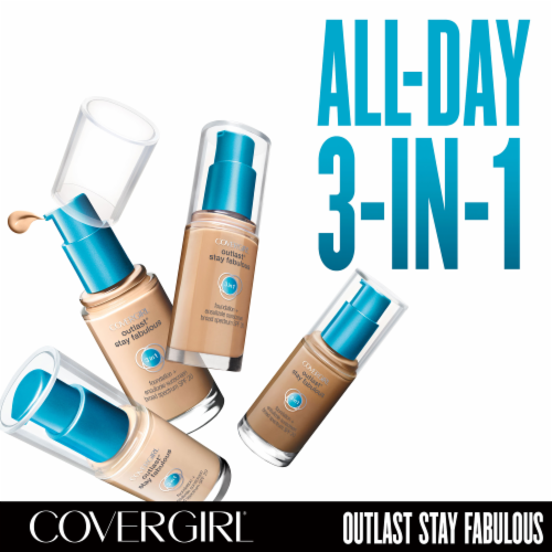 CoverGirl Outlast All Day Stay Fabulous 3-in-1 825 Buff Beige Foundation SPF 20 Perspective: back