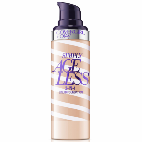CoverGirl + Olay Simply Ageless 3-in-1 250 Creamy Beige Liquid Foundation Perspective: back