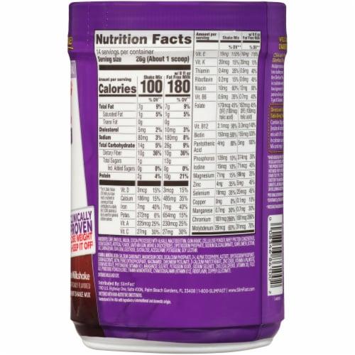 SlimFast Diabetic Weight Loss Chocolate Milkshake Meal Replacement Shake Perspective: back