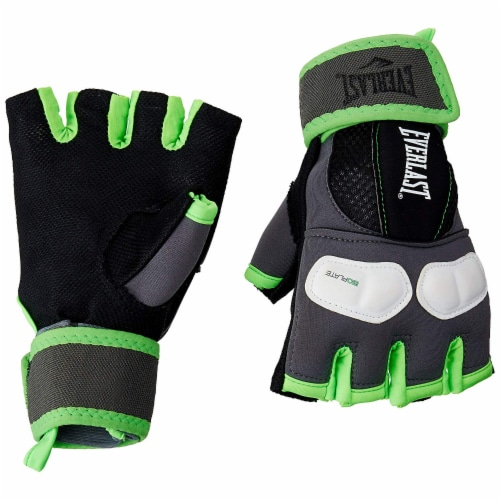 Everlast Prime Evergel Protective Boxing Hand Wrap Gloves, Green, Size Large Perspective: back