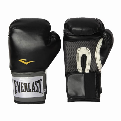 Everlast Pro Style Full Mesh Palm Training Boxing Gloves Size 14 Ounces, Black Perspective: back