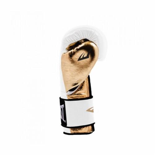 Everlast P00000722 Women's 12 Ounce Powerlock Hook & Loop Training Gloves, White Perspective: back