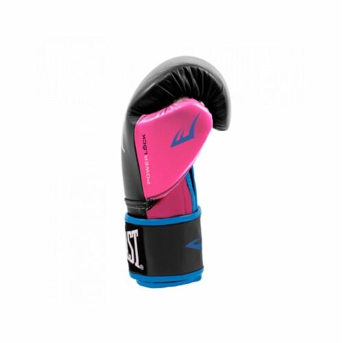 Everlast P00000745 Women's 12 Ounce Powerlock Hook & Loop Training Gloves, Pink Perspective: back