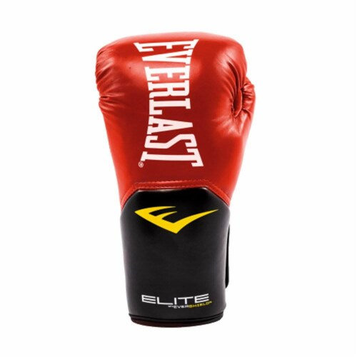 Everlast Pro Style Elite Workout Training Boxing Gloves Size 14 Ounces, Red Perspective: back