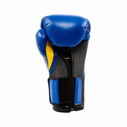 Everlast Pro Style Elite Workout Training Boxing Gloves Size 14 Ounces, Blue Perspective: back