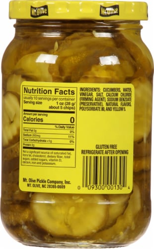Mt. Olive Mini Stuffers Hamburger Dill Chips Perspective: back
