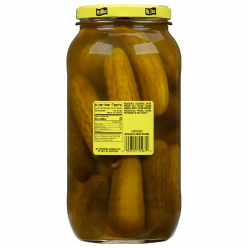 Mt. Olive Kosher Dill Pickles Perspective: back