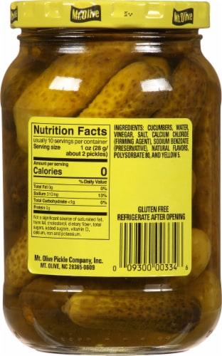 Mt. Olive Petite Snack Crunchers Kosher Dill Pickles Perspective: back