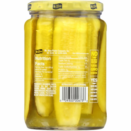 Mt. Olive Kosher Dill Spears Perspective: back