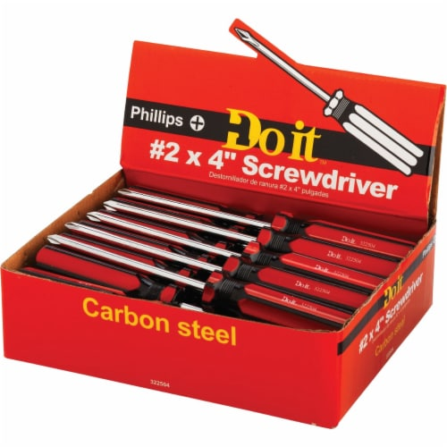Do it #2 x 4 In. Phillips Screwdriver Impulse Display 322504 Pack of 25 Perspective: back
