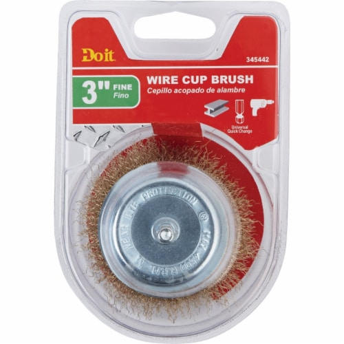 Do it 3 In. Fine Drill-Mounted Wire Brush 321311DB Perspective: back