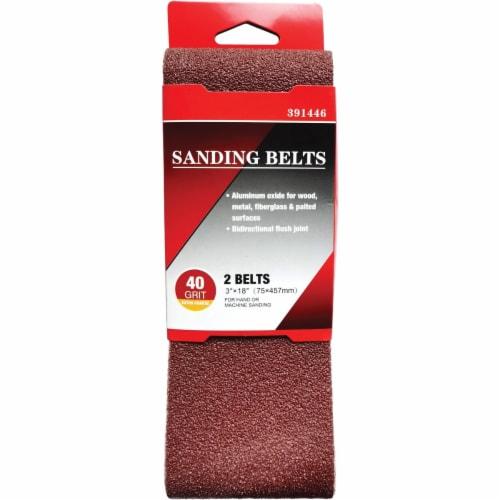 3 In. x 18 In. 40 Grit Heavy-Duty Sanding Belt (2-Pack) BS380350 Perspective: back
