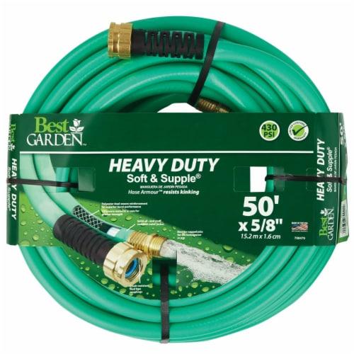 Best Garden 5/8 In. Dia. x 50 Ft. L. Heavy-Duty Soft & Supple Garden Hose Perspective: back