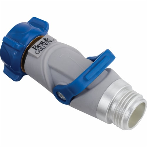 Best Garden Plastic Hose Shutoff Valve with Thumb Control 37090-P Perspective: back