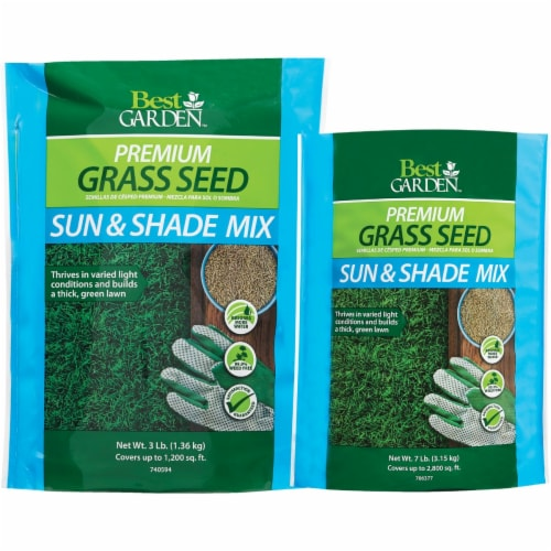 Best Garden 7 Lb. 2500 Sq. Ft. Coverage Sun & Shade Grass Seed 71176 Perspective: back