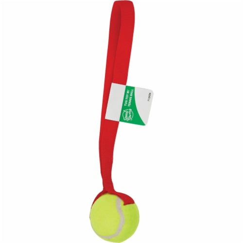 Smart Savers 6 Cm. Dia. Ball w/Tug Dog Toy CC401019 Pack of 12 Perspective: back