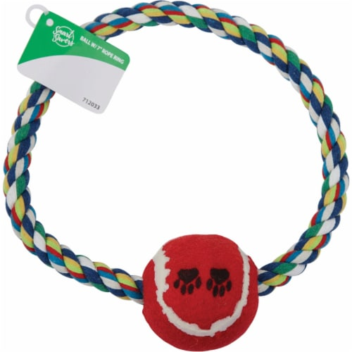 Smart Savers 7 In. Tug Rope Ring Dog Toy CC401029 Pack of 12 Perspective: back