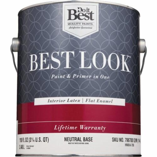 Do it Best Int Flat Neutrl Bs Paint HW36A0750-16 Perspective: back